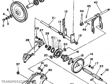 Yamaha Ys624w Snow Thrower 1988 parts list partsmanual
