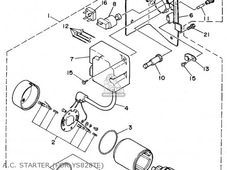 Yamaha Ys828tec 1994 parts list partsmanual partsfiche