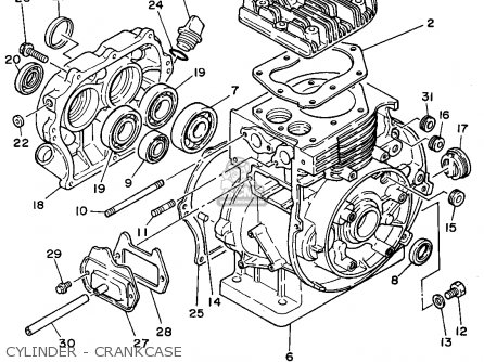 Yamaha Ys828tec 1994 parts list partsmanual partsfiche