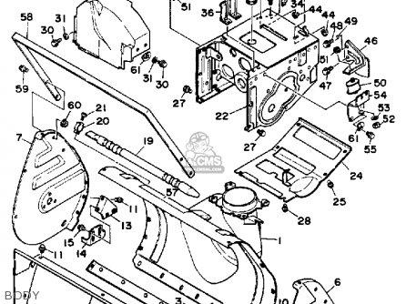 Yamaha Ys828tm Snow Blower 1988 parts list partsmanual