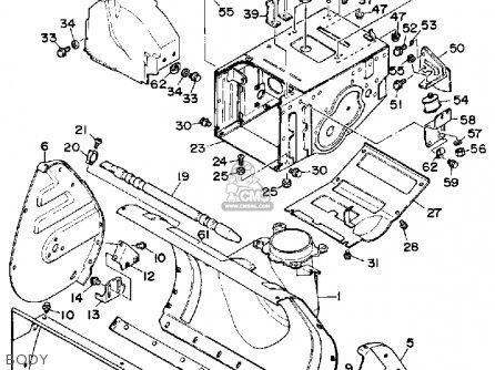Yamaha Ys828wn/wen Snow Blower 1989 parts list partsmanual