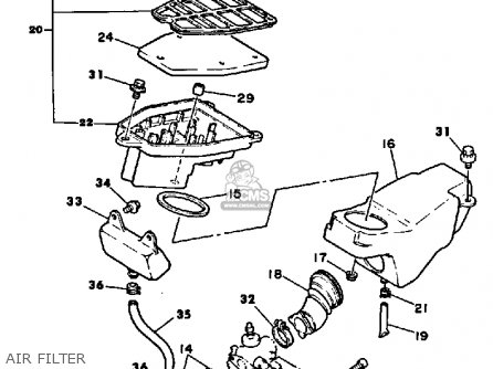 Yamaha Ysr50 1987 (h) Usa parts list partsmanual partsfiche