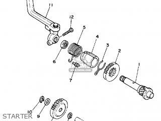 Yamaha Ysr50 1987 (h) Usa parts list partsmanual partsfiche