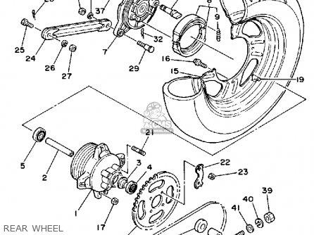 Yamaha YSR50 1991 (M) USA parts lists and schematics