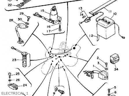 Yamaha YSR50 1992 (N) USA parts lists and schematics