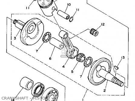 Yamaha Ysr50b 1991 parts list partsmanual partsfiche