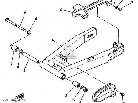 Yamaha Ysr50u 1988 parts list partsmanual partsfiche