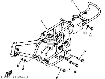 Yamaha Yt125g 1980-1982 parts list partsmanual partsfiche
