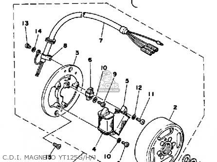 Yamaha Yt125g 1980 parts list partsmanual partsfiche