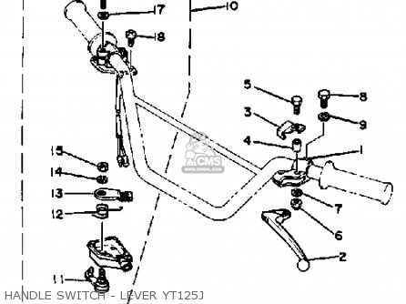 Yamaha YT125G 1980 parts lists and schematics