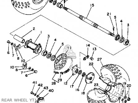 Yamaha YT125G 1980 parts lists and schematics