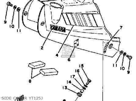 Yamaha Yt125j 1980-1982 parts list partsmanual partsfiche