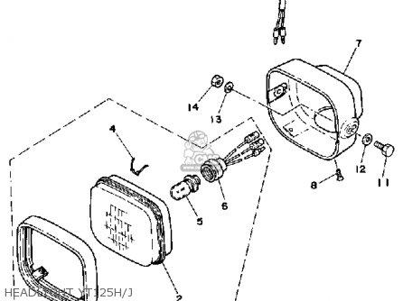 Yamaha YT125J 1982 parts lists and schematics