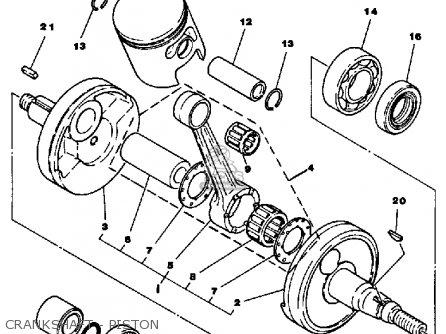 Yamaha Yt125k Tri-moto 1983-1984 parts list partsmanual