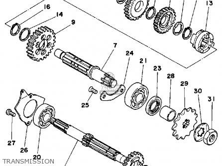 Yamaha YT125K TRI-MOTO 1983 parts lists and schematics