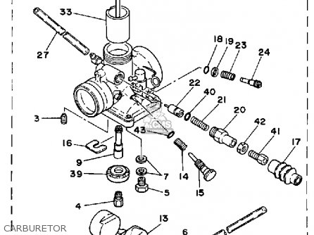 Yamaha Yt125l Tri-moto 1983-1984 parts list partsmanual