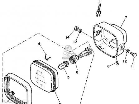 Yamaha Yt125l Tri-moto 1983-1984 parts list partsmanual