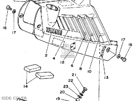 Yamaha Yt125n Tri-moto 1985 parts list partsmanual partsfiche