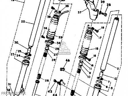 Yamaha Yt175j 1982 parts list partsmanual partsfiche
