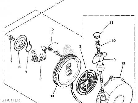Yamaha Yt60n Tri-zinger 1984-1985 Usa parts list