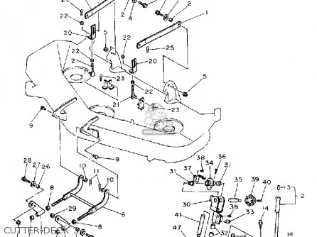 Yamaha YT6800P LAWN TRACTOR 1990 parts lists and schematics