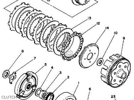 Yamaha Ytm200 K Tri-moto 1983-1984 parts list partsmanual