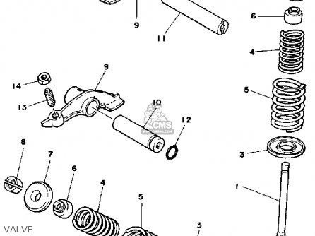 Yamaha Ytm200 L Tri-moto 1983-1984 parts list partsmanual