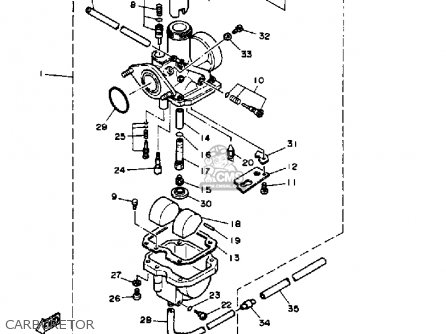 Yamaha Ytm200ek 1983-1984 parts list partsmanual partsfiche