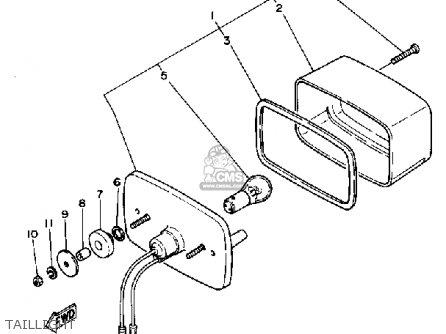 Yamaha Ytm200ek 1983-1984 parts list partsmanual partsfiche