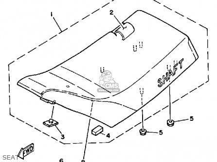 Yamaha Ytm200ern 1985 parts list partsmanual partsfiche