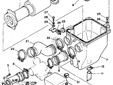 Yamaha YTM200K TRI-MOTO 1983 parts lists and schematics