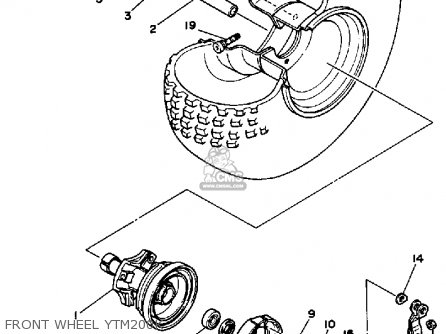 Yamaha YTM200K TRI-MOTO 1983 parts lists and schematics