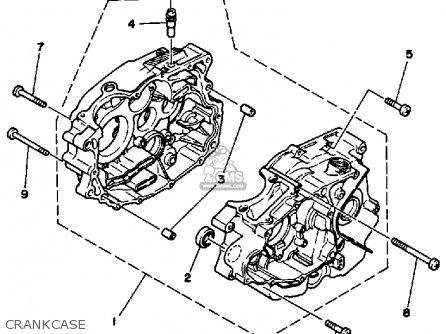 Yamaha Ytm200l Tri-moto 1984 parts list partsmanual partsfiche