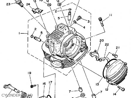 Yamaha YTM200L TRI-MOTO 1984 parts lists and schematics