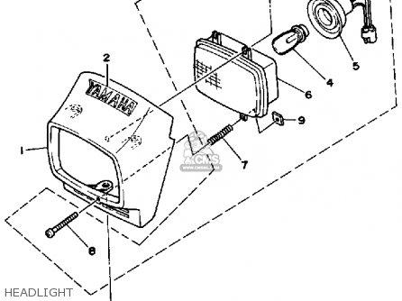 Yamaha Ytm200n 1985 parts list partsmanual partsfiche