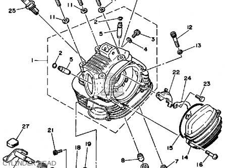 Yamaha Ytm225drn Tri-moto 1985 parts list partsmanual