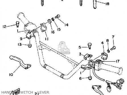 Yamaha YTM225DRN TRI-MOTO 1985 parts lists and schematics