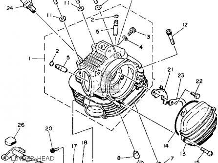 Yamaha Ytm225dxl 1983-1984 parts list partsmanual partsfiche
