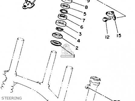 Yamaha Ytm225dxl 1984 parts list partsmanual partsfiche