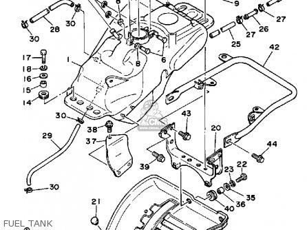 Yamaha Ytz250n 1985 parts list partsmanual partsfiche