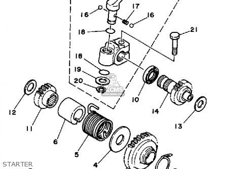 Yamaha Ytz250s 1986 parts list partsmanual partsfiche