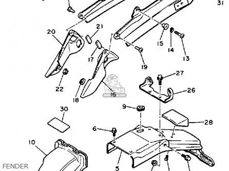 Yamaha YX600 RADIAN 1986 (G) USA parts lists and schematics