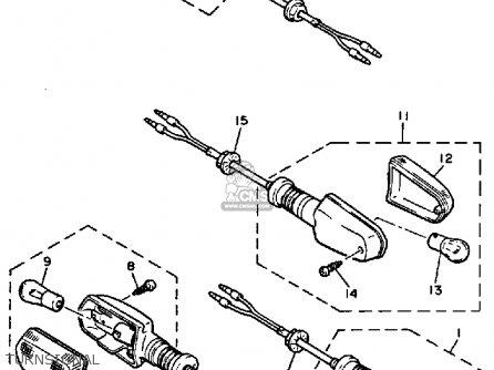Yamaha Yx600 Radian 1986 (g) Usa parts list partsmanual