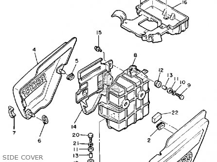 Yamaha Yx600 Radian 1987 (h) Usa parts list partsmanual