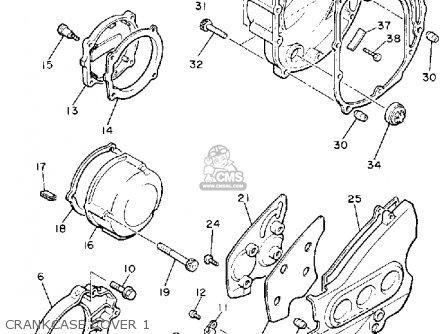 Yamaha Yx600 Radian 1989 (k) Usa parts list partsmanual