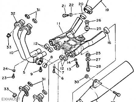 Yamaha YX600C RADIAN 1986 (G) CALIFORNIA parts lists and
