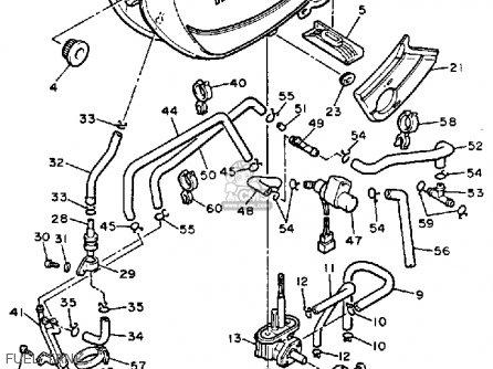 Yamaha Yx600c Radian 1986 (g) California parts list