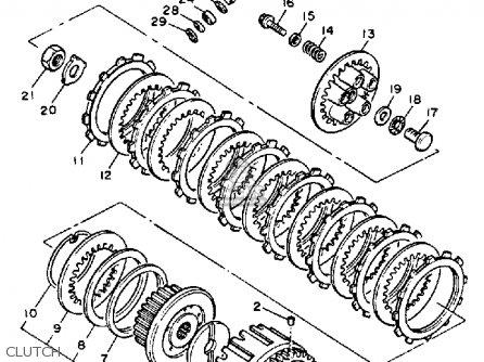 Yamaha Yx600s Radian 1986 parts list partsmanual partsfiche