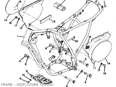 Yamaha YZ100 1977 USA parts lists and schematics