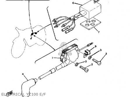 Yamaha Yz100 1979 Usa parts list partsmanual partsfiche
